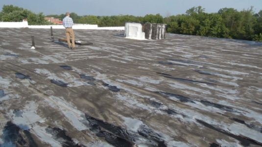 Commercial Roof-Wind Damage