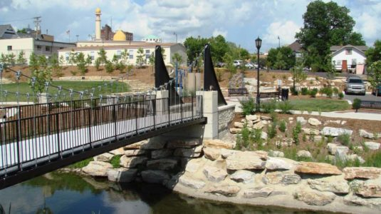 Flat Branch Pedestrian Bridge – Columbia, Missouri