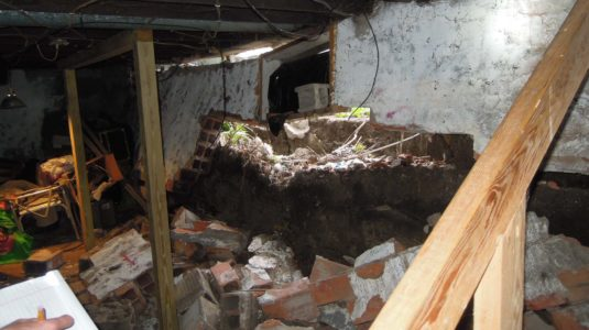 Residential Basement Wall Collapse